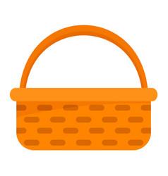garden basket icon flat style vector image