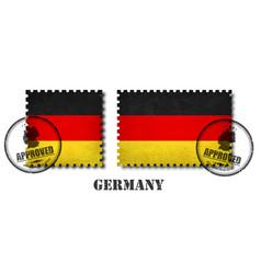 Germany or german flag pattern postage stamp vector