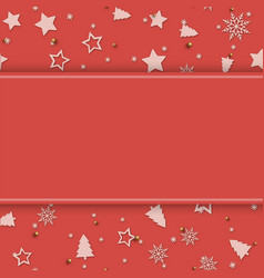 greeting card with christmas ornaments vector image