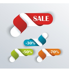 Hot deal color 3d realistic paper sale tags vector image