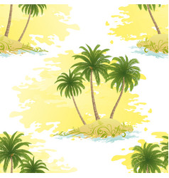 Island with palms seamless vector