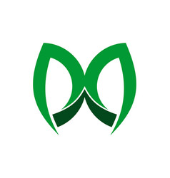 Letter m green logo icon vector
