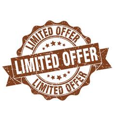 limited offer stamp sign seal vector image
