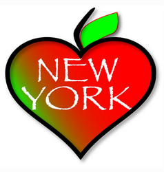 love new york vector image