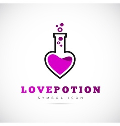 Love Potion Concept Symbol Icon or Logo Template vector image