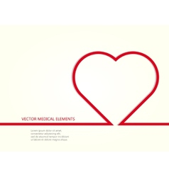 medical elements with line heart vector image