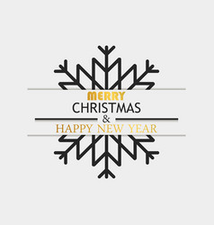merry christmas and happy new year layer with vector image