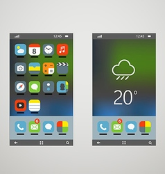 Modern smartphones with different application vector image