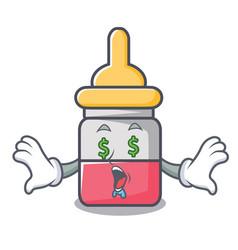 Money eye nassal drop mascot cartoon vector