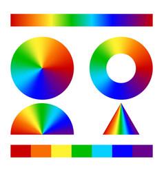 Multicolor conical gradient vector