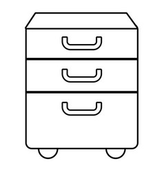 Office closet icon outline line style vector
