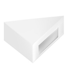 packaging white gray triangle packaging box with vector image