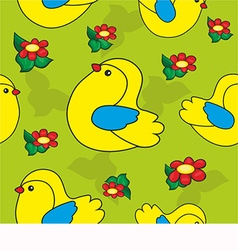 Pattern with a bird vector