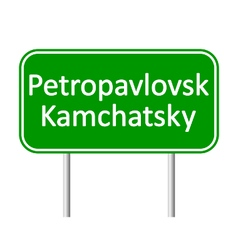Petropavlovsk-Kamchatsky road sign vector image