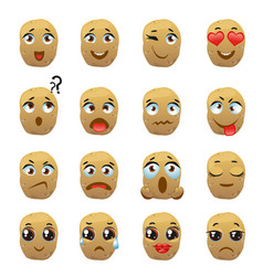 Potato emoji emoticon expression vector