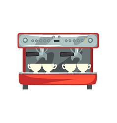 professional coffee machine cartoon vector image