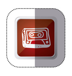 Red symbol radio technology icon vector