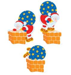 Santa and chimney vector