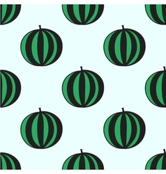 Seamless hand-drawn pattern with watermelon vector image