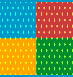 seamless patterns with rhombus shapes vector image