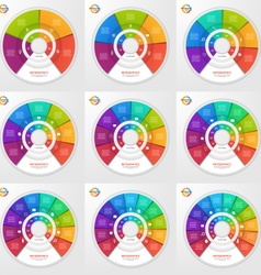 set circle infographic templates vector image