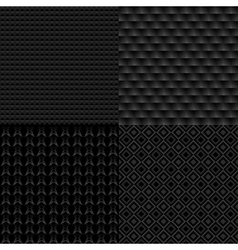 Set of four seamless patterns Repeating vector