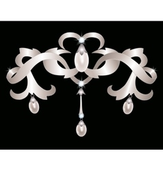Silver jewelry vector