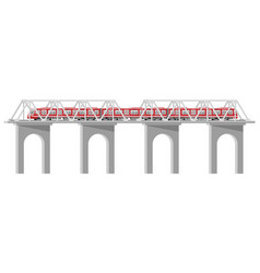 skytrain isolated on white vector image