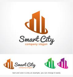 Smart city logo template design vector