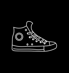 sneakers shoes line icon fitness and sport vector image