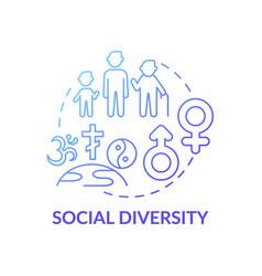 Social diversity concept icon vector