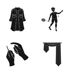 Sport textiles medicine and other web icon in vector