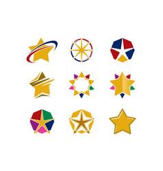 Star logo collection vector