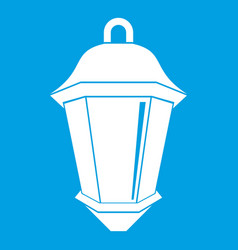 Street light icon white vector
