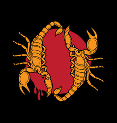 traditional scorpion tattoo flash vector image