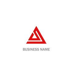 triangle abstract business company logo vector image