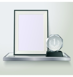 Trophy And Frame Realistic Composition Image vector