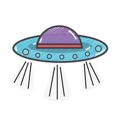 Ufos in the galaxy space and mysterious creation vector