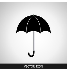 Umbrella sign icon Rain protection symbol Flat vector image