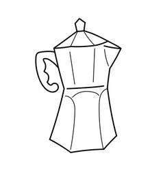 Utensil for preparing coffee isolated line vector