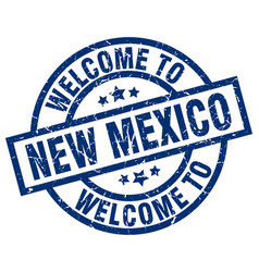 welcome to new mexico blue stamp vector image
