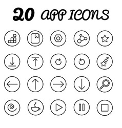 20 app icons in eps vector image
