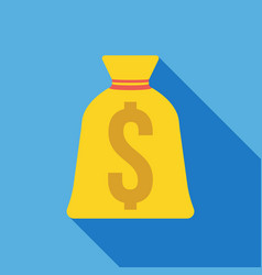 Money bag icon business concept vector