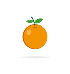 Orange logo design template vector image
