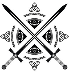 fantasy swords fourth variant vector image