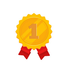 golden medal with 1st place vector image