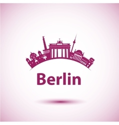silhouette of Berlin vector image