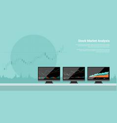 stock market analysis vector image vector image
