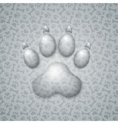 Trace Dog in the Form of Droplets Water vector image vector image
