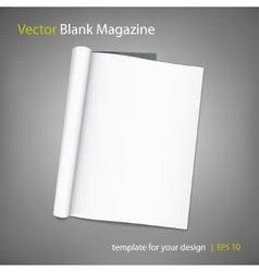 blank page of magazine on grey background vector image vector image